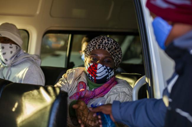 General views at a taxi rank in Pretoria as SA entered Level 3 of lockdown.