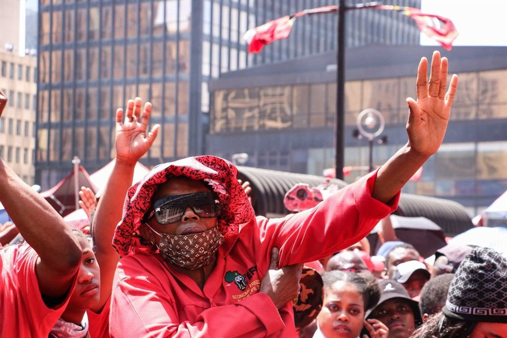 EFF supporters at the party's manifesto launch.