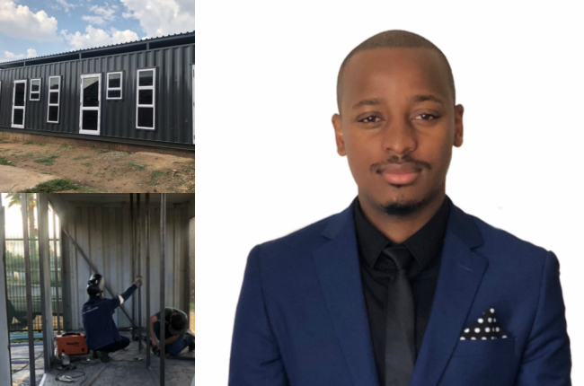 Wandile Moganedi started his container-converting business in 2018.