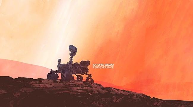 The Mars 2020 Perseverance rover. (Image: NASA/JPL