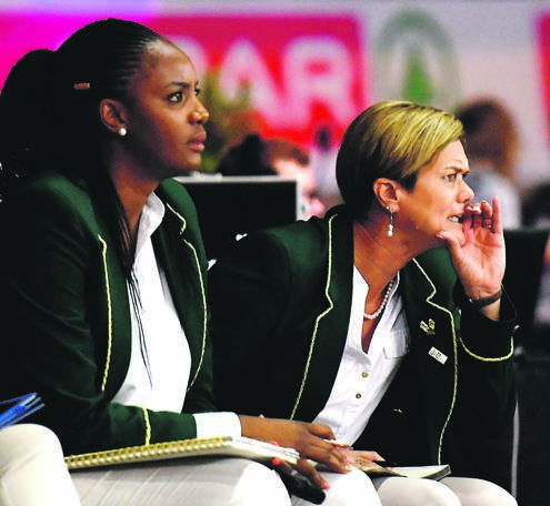Proteas assistant coach Dumisani Chauke and her principal Dorette Badenhorst come a long way as netball tacticians. Picture: Ashley Vlotman / Gallo Images
