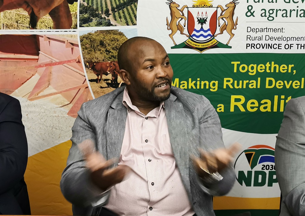 Thandisizwe Diko during a press conference of the mornachs to discuss the cannibis industry in East London.