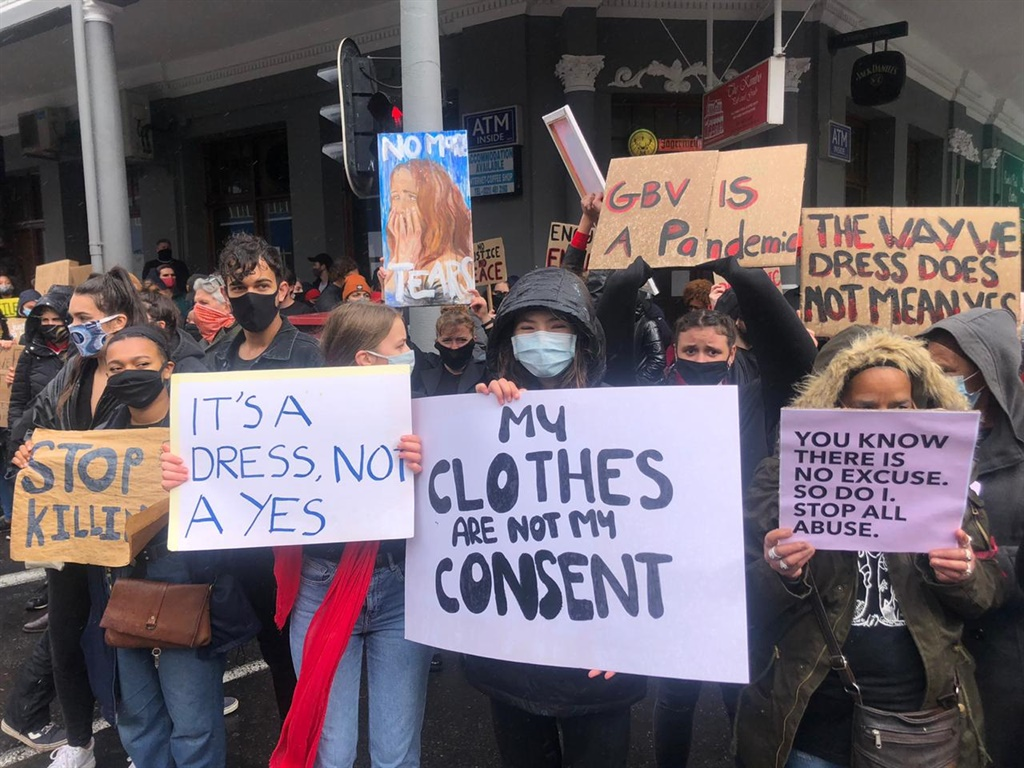 Anti-GBV picket near Parliament (Supplied by Pearlie Joubert)
