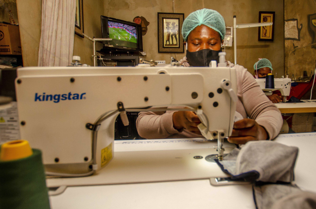 Ponina Shikweni taught herself to crochet after she lost her job in construction and now employs 35 people.