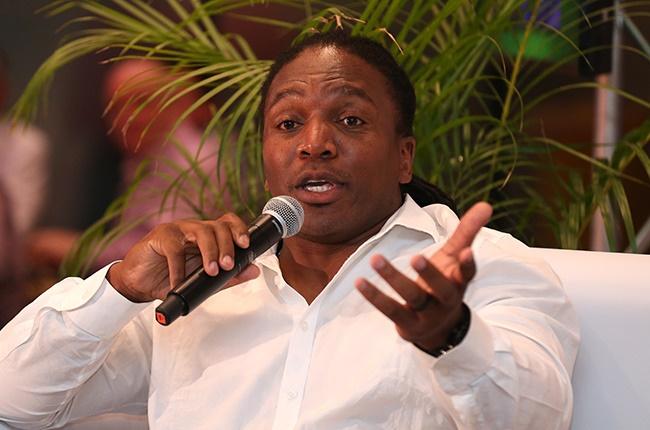 Former Blitzboks captain Jonathan Mokuena during The Captain's Table, 20 years of Blitzboks Sevens, at Cape Town Stadium on 13 December 2019.