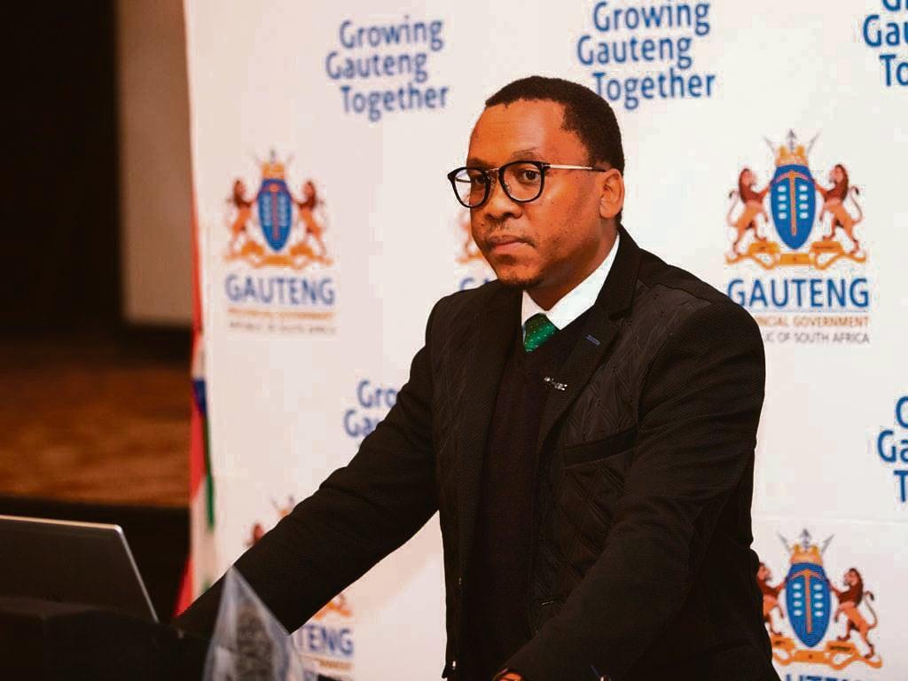 Gauteng health MEC Bandile Masuku.