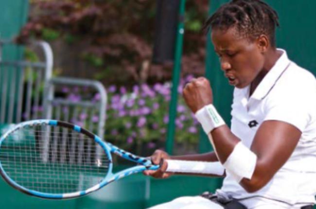 Tennis star Kgothatso Montjane.