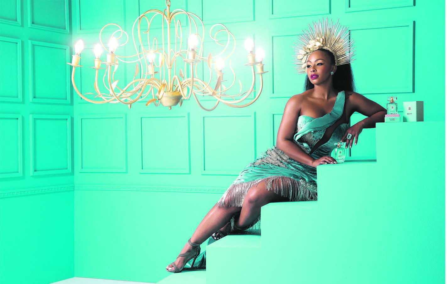 Boity Thulo has launched a new fragrance, Boity Pink Sapphire. Picture: Jud van Rensburg