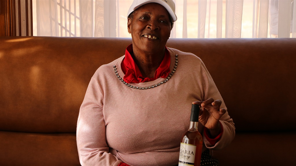 72-year-old Aria Letoba from Sebokeng township, south of Johannesburg started making her own wine from her backyard in 2015.