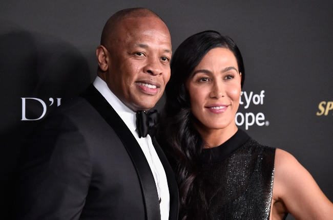 Dr Dre and Nicole Young. (PHOTO: Frazer Harrison/Getty Images)