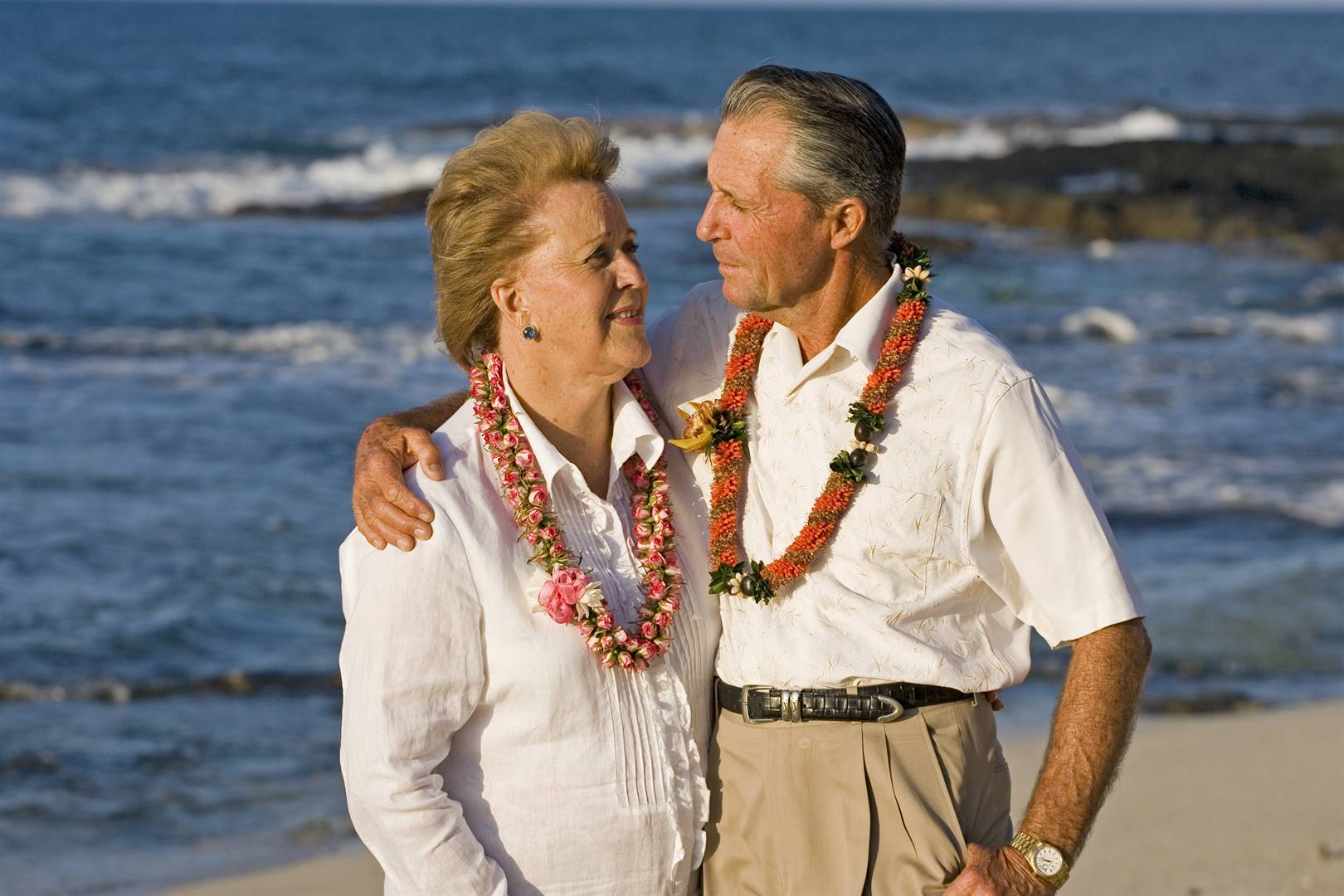 Gary Player and Vivienne Player when they were celebrating their 50th wedding anniversary during the first round of the 2007 MasterCard Championship. Picture: Chris Condon / PGA