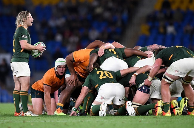 The Springbok scrum oozed power for little reward. (Photo by Matt Roberts/Getty Images)