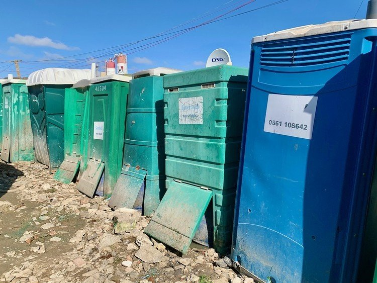 Communal toilets in Dunoon, Cape Town, are full to the brim following a dispute between residents and the City.