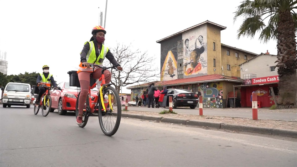 The Langa Community Action Network has started using bicycles to deliver food to elderly, disabled and bedridden residents in the area.