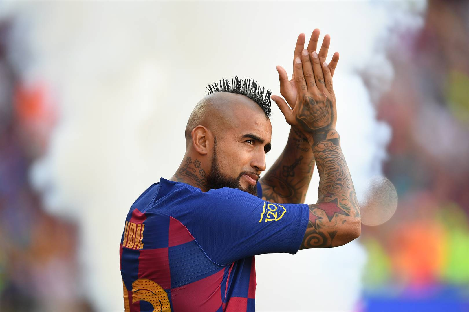Barcelona midfielder Arturo Vidal is eager to put one over his former club Bayern Munich. Picture: David Ramos / Getty Images