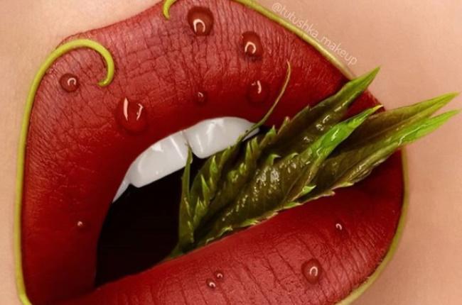 Makeup artist Tatushka Matviienko creates incredible lip art.  (Photo: Instagram/ @tutushka_makeup)