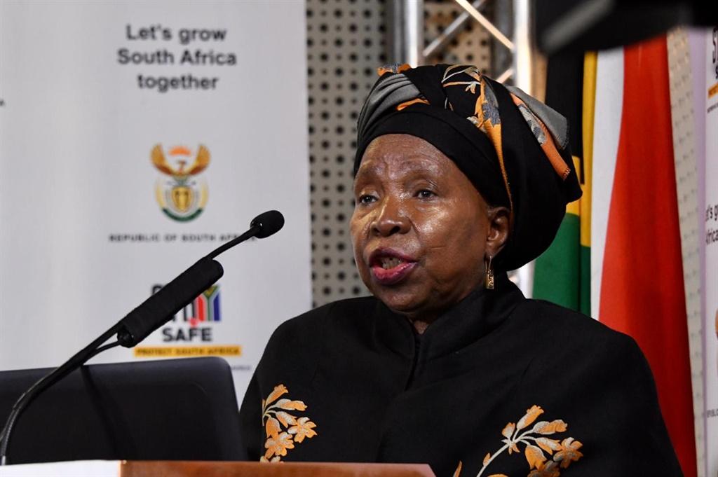 Dlamini-Zuma: Masks are a matter of life or death as SA borders open - News24