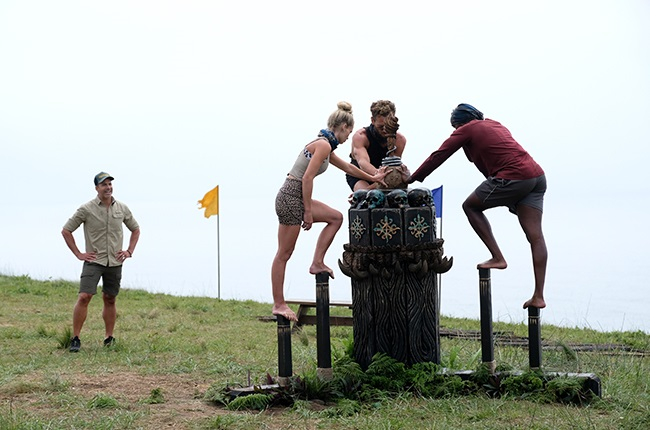 Top 3 competing in the final immunity challenge.
