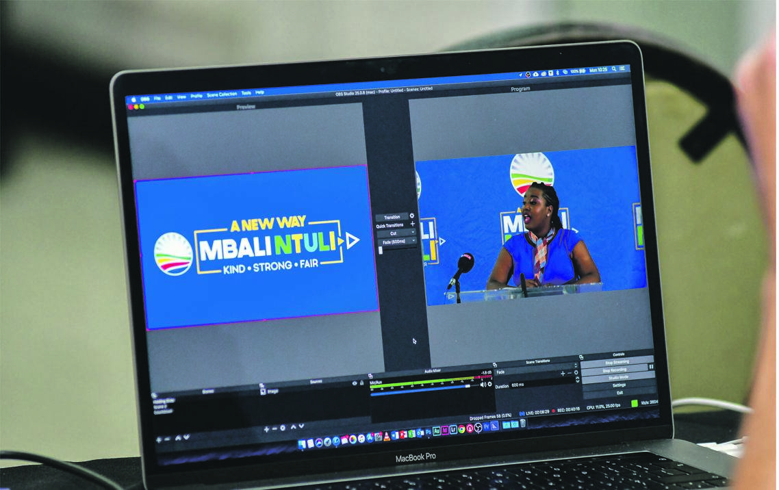 On August 27, member of the provincial legislature Mbali Ntuli participates in one of the DA's virtual meetings. She contested for the DA leadership this year, but lost to John Steenhuisen. Picture: Darren Stewart / Gallo images