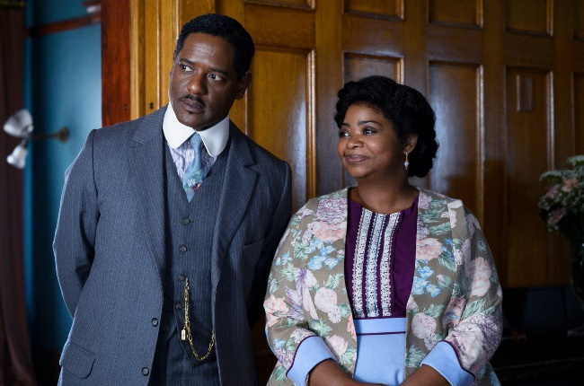 Newspaper ad salesman Charles Joseph Walker (Blair Underwood) and his wife, Sarah (Octavia Spencer), who becomes a hair-care mogul in Self Made