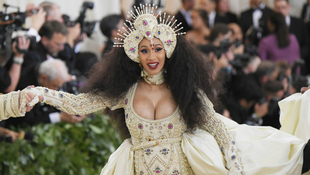 Cardi B attends the Heavenly Bodies: Fashion & The Catholic Imagination Costume Institute Gala. Photographed by Mike Coppola/MG18