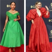 Classic evening couture gowns reigned supreme on the Emmy Awards red carpet