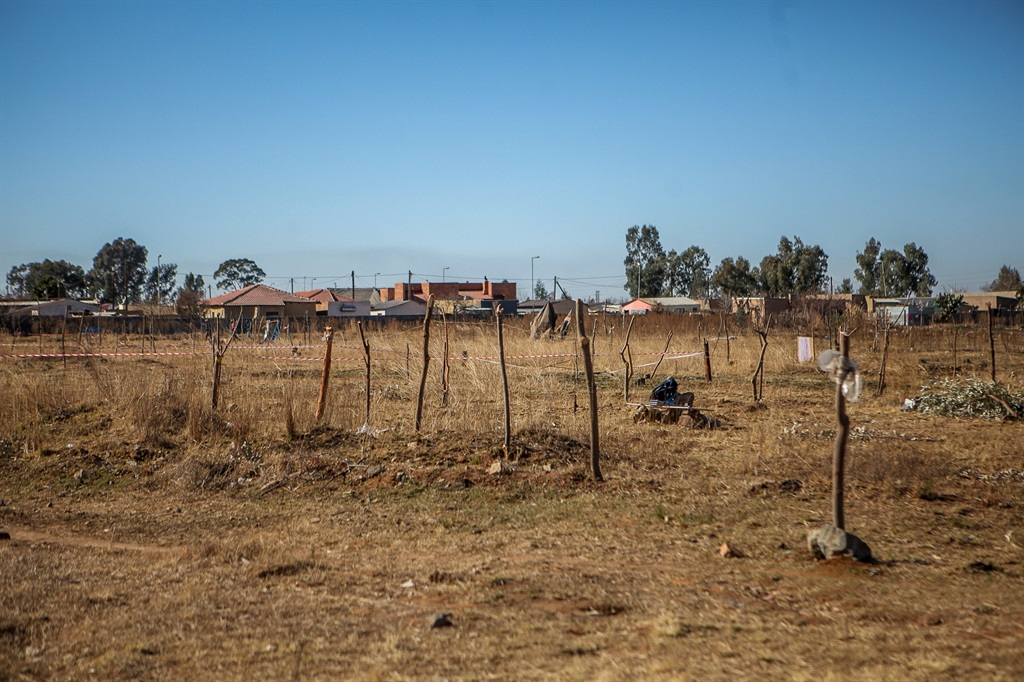 An area of land in Slovoville. (Photo by Gallo Images/Sharon Seretlo)