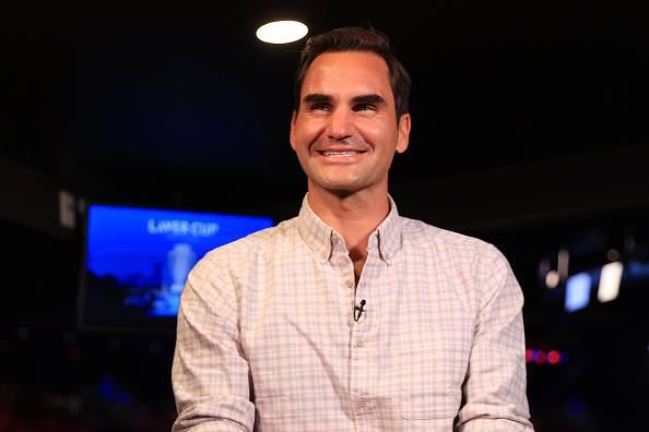 Roger Federer 'n in ligte luim by die Laverbeker.  Foto: Getty Images