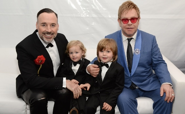 Elton tied the knot with David Furnish and the pai