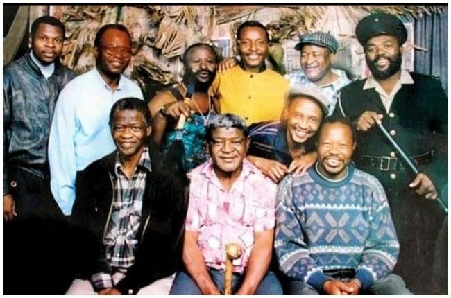 The cast of Emzini Wezinsizwa with Pixley Shabangu.