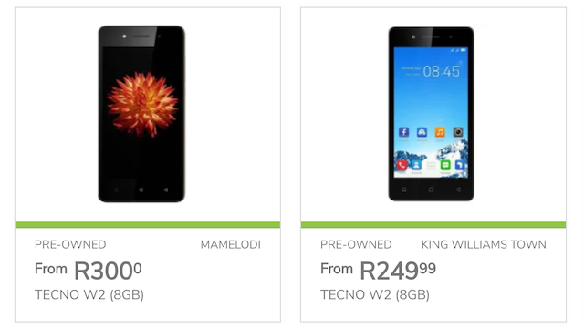 Pre-owned Techno W2 handsets for sale