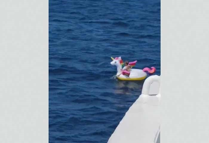Now that's one durable floaty! (Facebook/Giorgos Papaioannou)