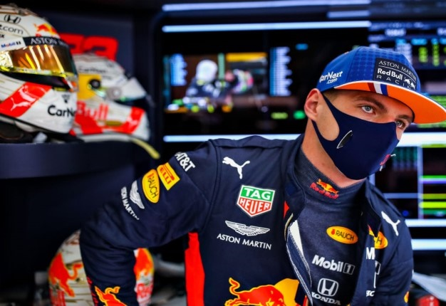 Max Verstappen of Red Bull Racing looks on in the garage during practice for the F1 Grand Prix of Belgium. Image: Mark Thompson / Getty.