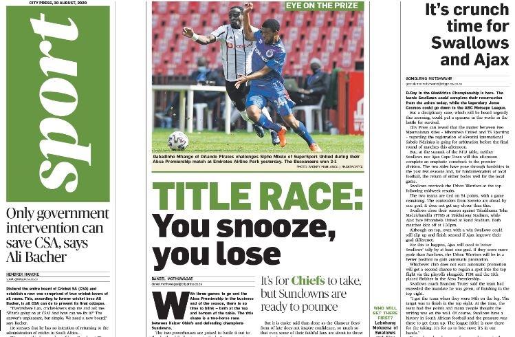 City Press Sport | August 30 2020
