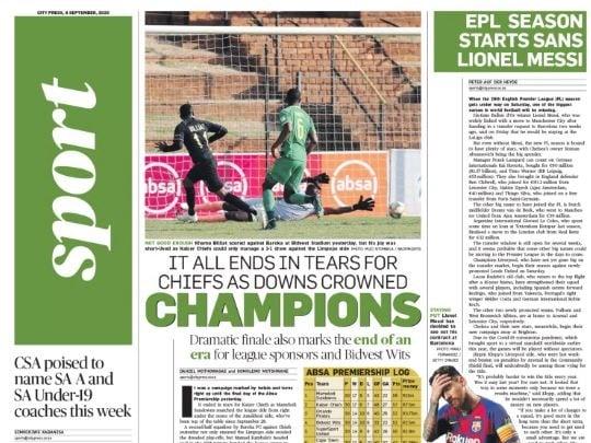 City Press Sport | September 06 2020