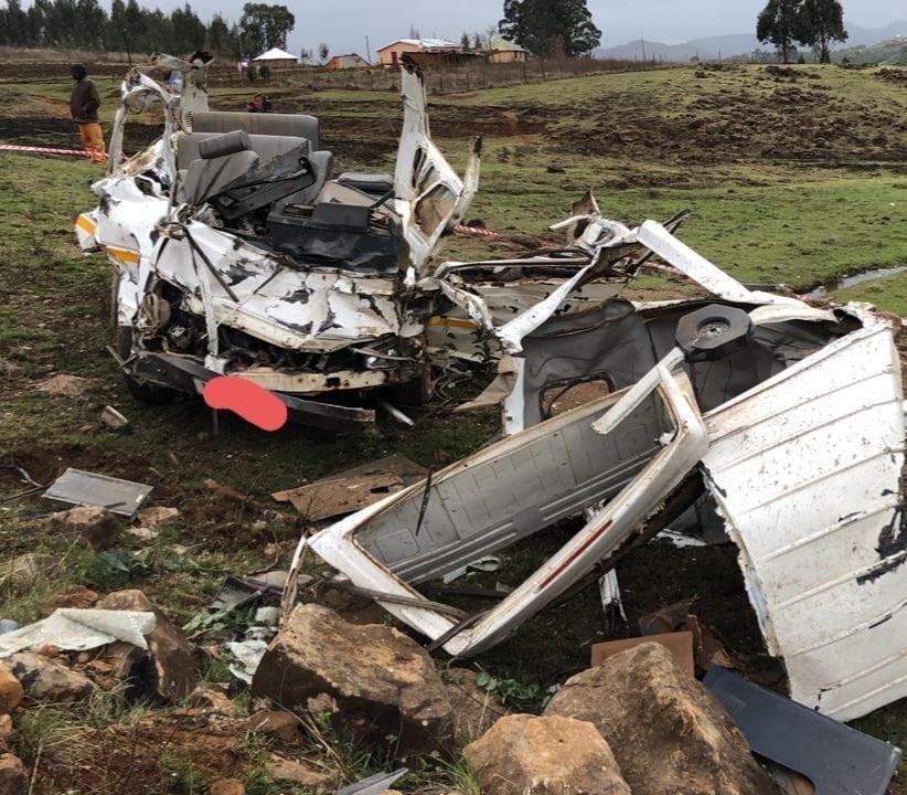 Accident scene between Underberg and Bulwer in KwaZulu-Natal on Saturday.