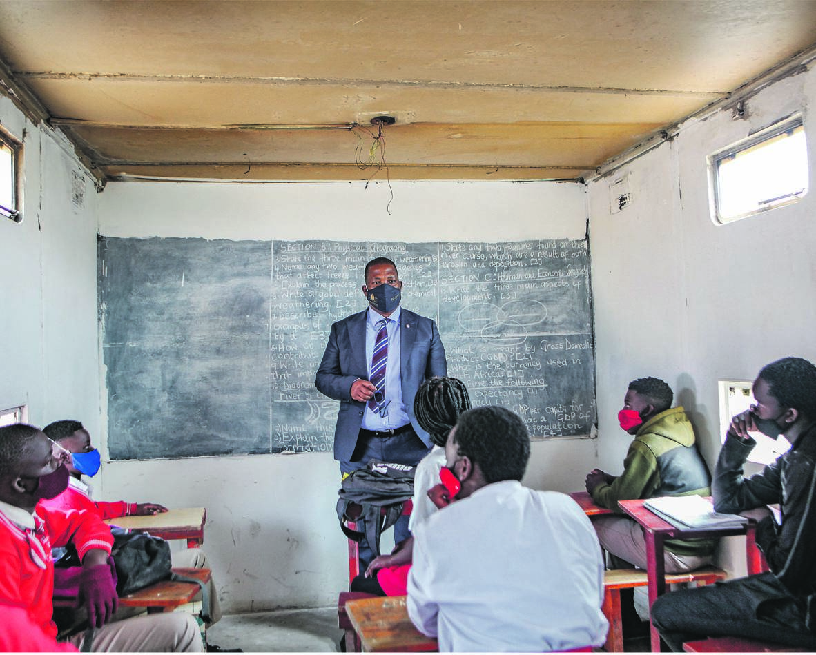 Gauteng Education MEC Gauteng Panyaza Lesufi shut down illegal schools on Thursday in Ivory Park. The schools were allegedly operating without approval and were not registered with the department of education. Picture: Sharon Seretlo / Gallo Images