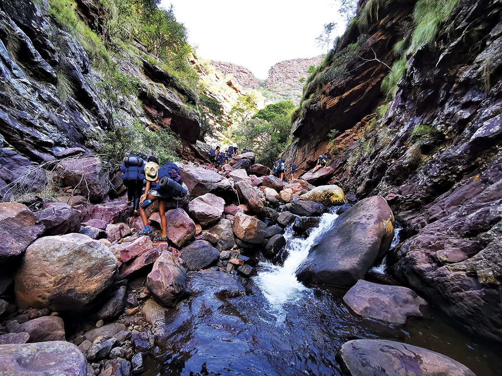 The Hels River hike is not for people with ankle problems. You will scramble, climb and rock-hop for about 4 km through this river.