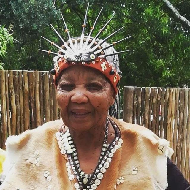 Ouma Katarina Esau is one of two remaining N|uu sp