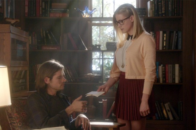 University students Quentin Coldwater (Jason Ralph) and Alice Quinn (Olivia Taylor Dudley) explore the dangerous world of magic in The Magicians. (PHOTO: SyFy)