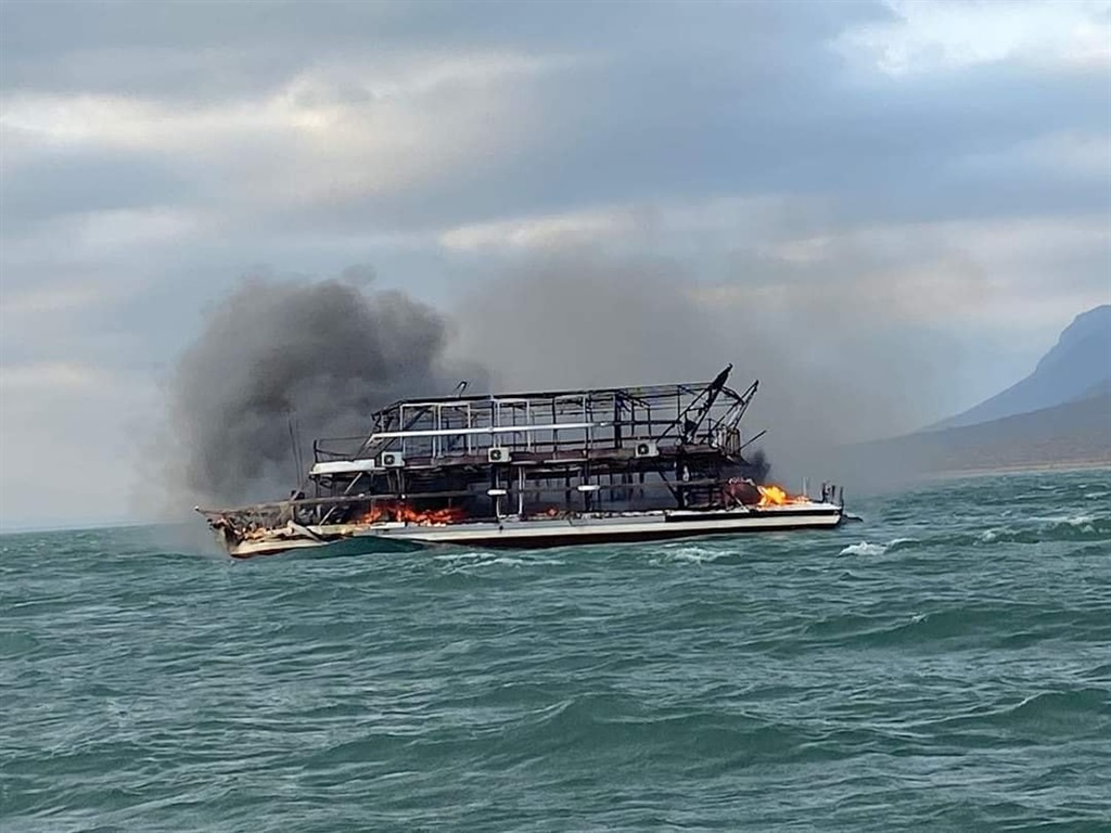 The Shayamanzi Houseboat where two people died after a fire.