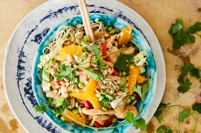 Stir-fry with chicken with orange soy sauce. (PHOTO: JACQUES STANDER)