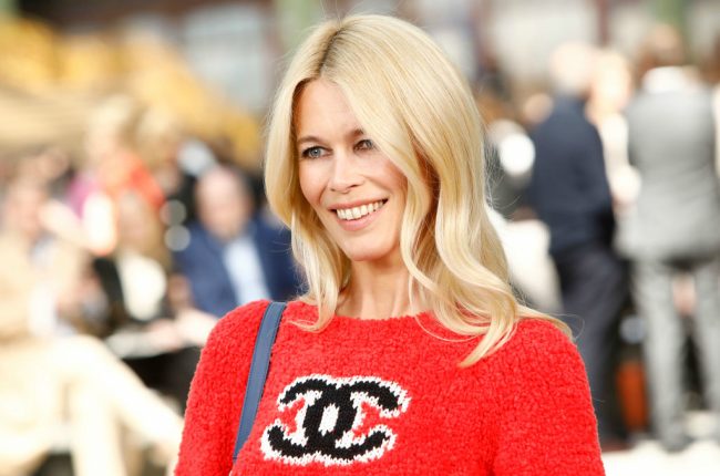 Claudia Schiffer attends the Chanel Cruise 2020 Collection. Photographed  by Julien M. Hekimian