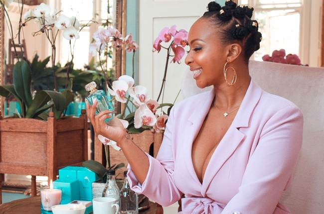 A younger Boity wished for Heiress and now she sits on her own throne with her new Pink Sapphire EDP