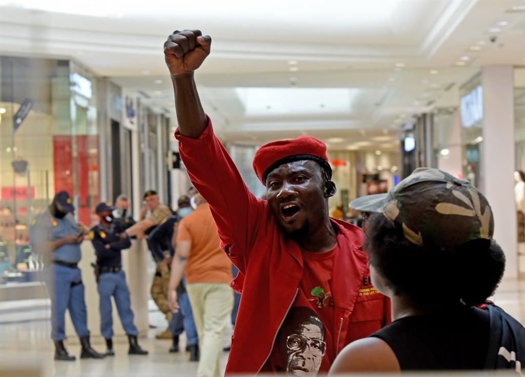 September 08.2020. EFF members protesting outside