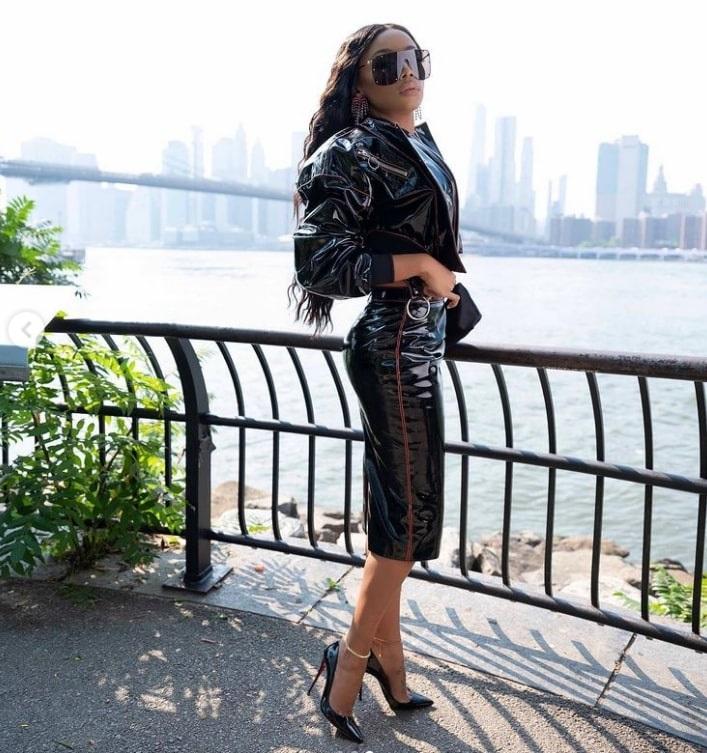 Bonang Matheba in New York City.