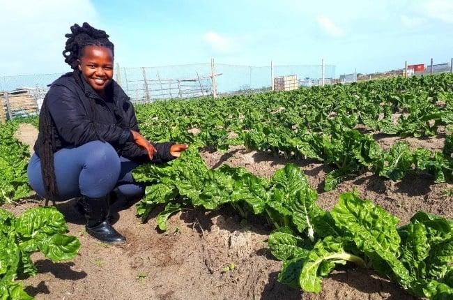 Ncumisa Mkabile is living her dream on her spinach farm. (PHOTO:FACEBOOK_NCUMISAMIESAH_MKABILE)