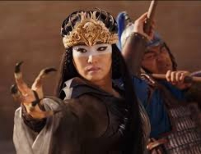 Gong Li impresses in her role as the witch Xianni
