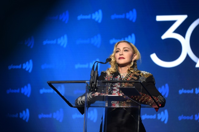 Madonna at the 30th Annual GLAAD Awards. (PHOTO: GALLO IMAGES/GETTY IMAGES)