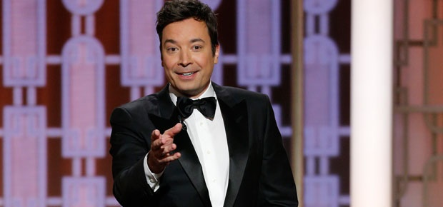 Jimmy Fallon hosts the 74th Golden Globe Awards. (Photo: AP)